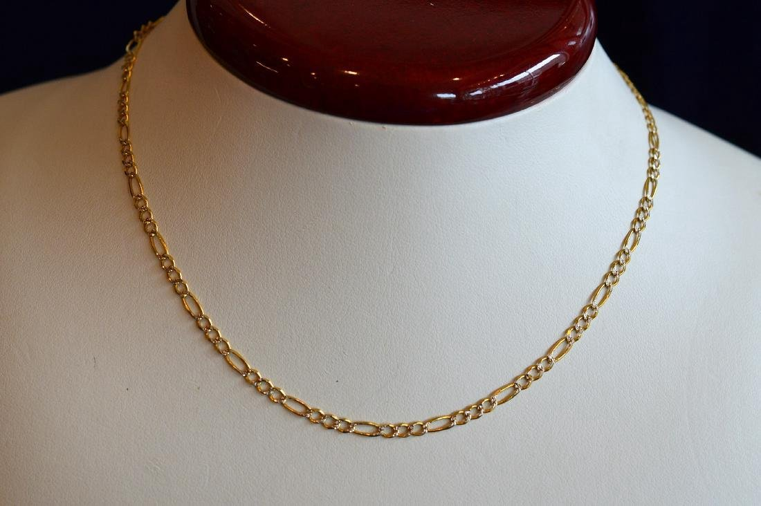 Italian Gold Tone Sterling Silver Cable Chain Necklace