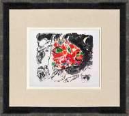 Marc Chagall Lithograph Derriere le Miroir