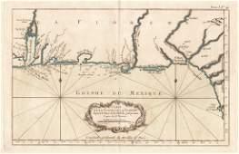 Bellin: Antique Map, Florida Coastal Chart, 1764