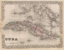 Mitchell: Antique Map of Cuba, 1873