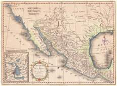 Kitchen: Antique Map of Mexico or New Spain, 1777