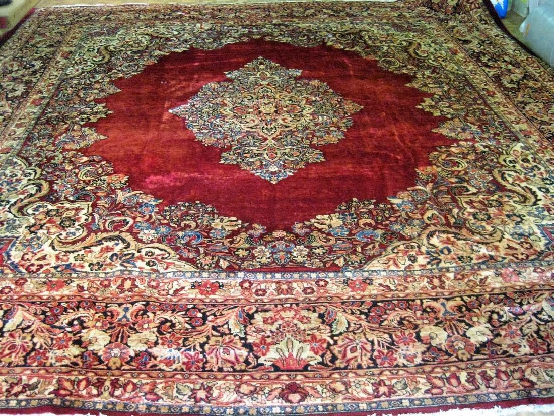 Antique Persian Sarouk Rug 12.8x13.4