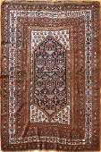 Antique Kurdish Rug 4.11x6.10