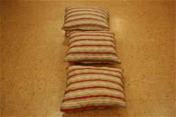 3 Antique Caucasian Kilim Rug Wool Pillows 1.4x1.6 Each