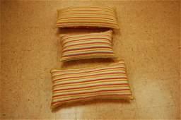 3 Antique Caucasian Kilim Rug Wool Pillows 1.2x2 Each
