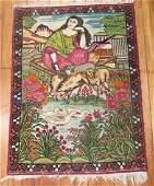 Antique Persian Lavar Kerman Kermanshah Rug 2x2.8