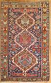 Antique Caucasian Shirvan Gendje Karagashli Rug 3.9x5.7