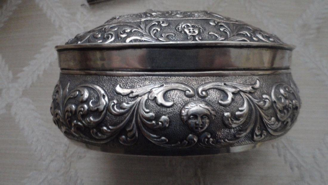 Antique German Sterling Silver Jewelry Box - 2