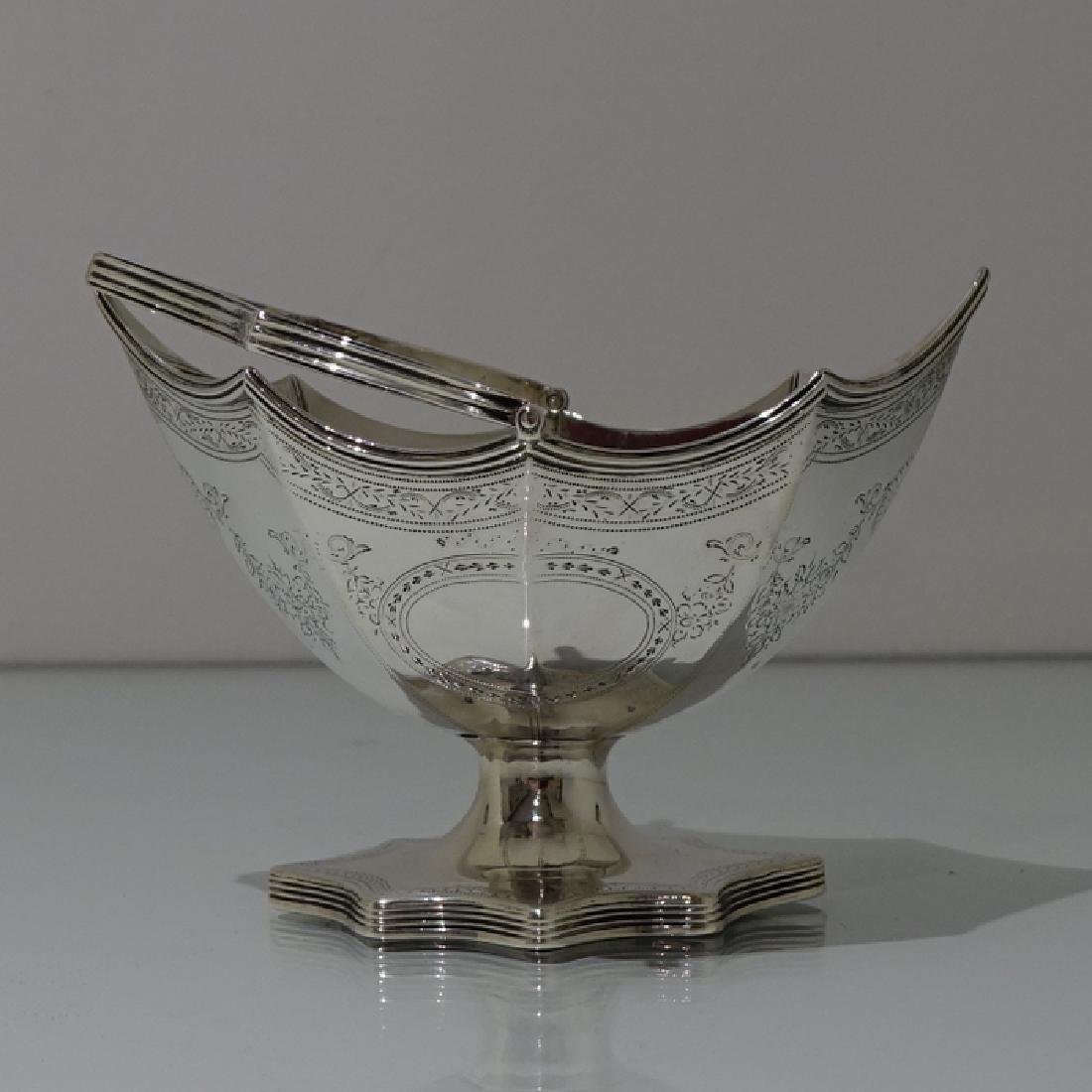Antique George III Bateman Sterling Silver Sugar Basket