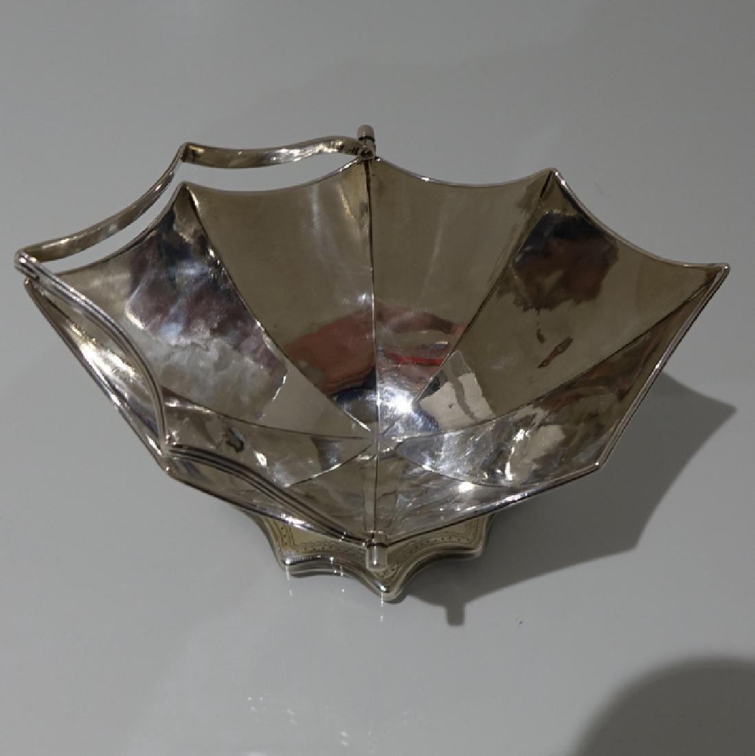 Antique George III Bateman Sterling Silver Sugar Basket - 4