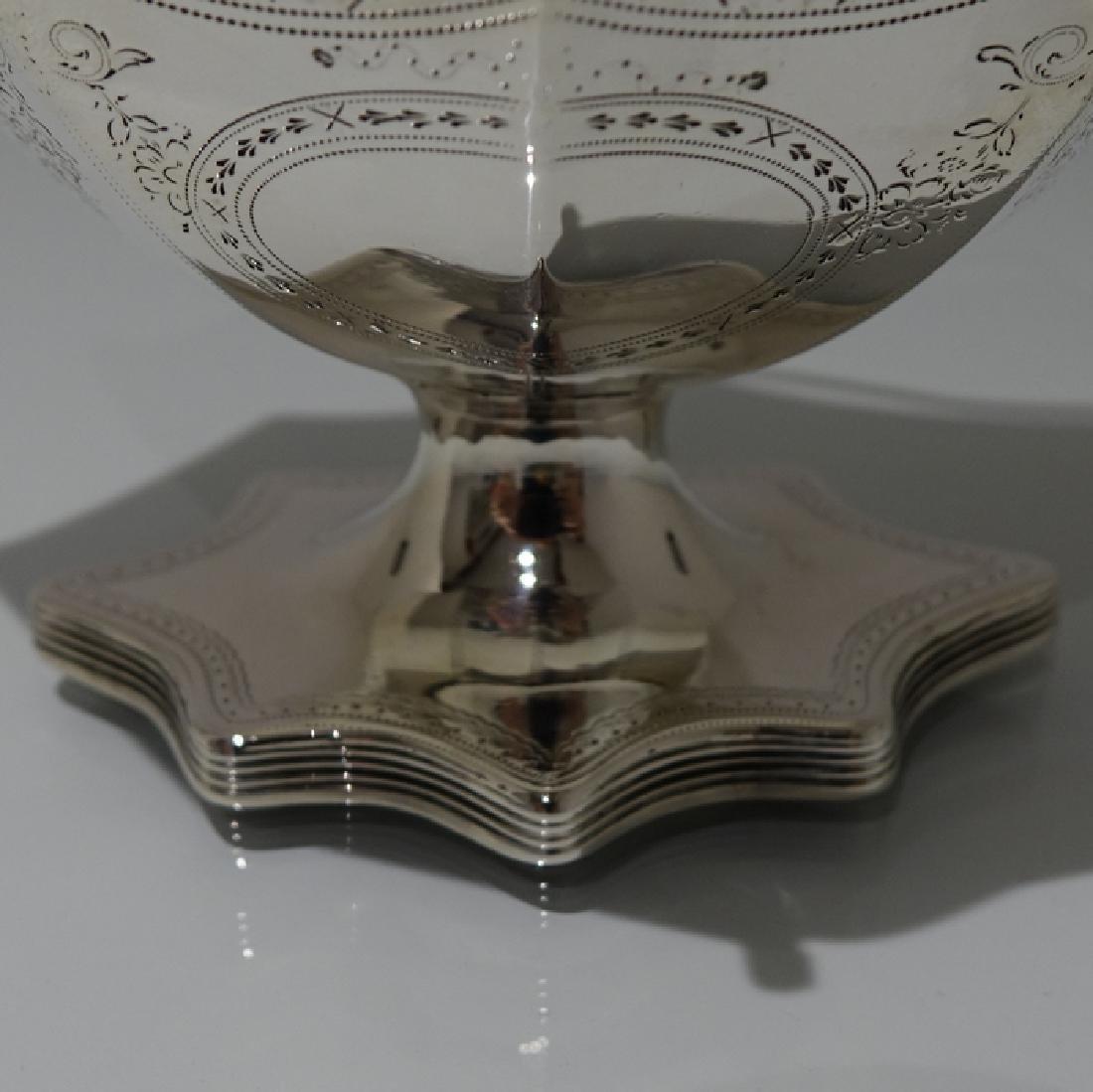 Antique George III Bateman Sterling Silver Sugar Basket - 8