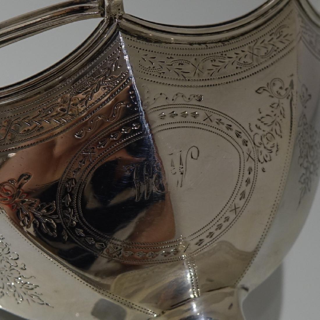 Antique George III Bateman Sterling Silver Sugar Basket - 9