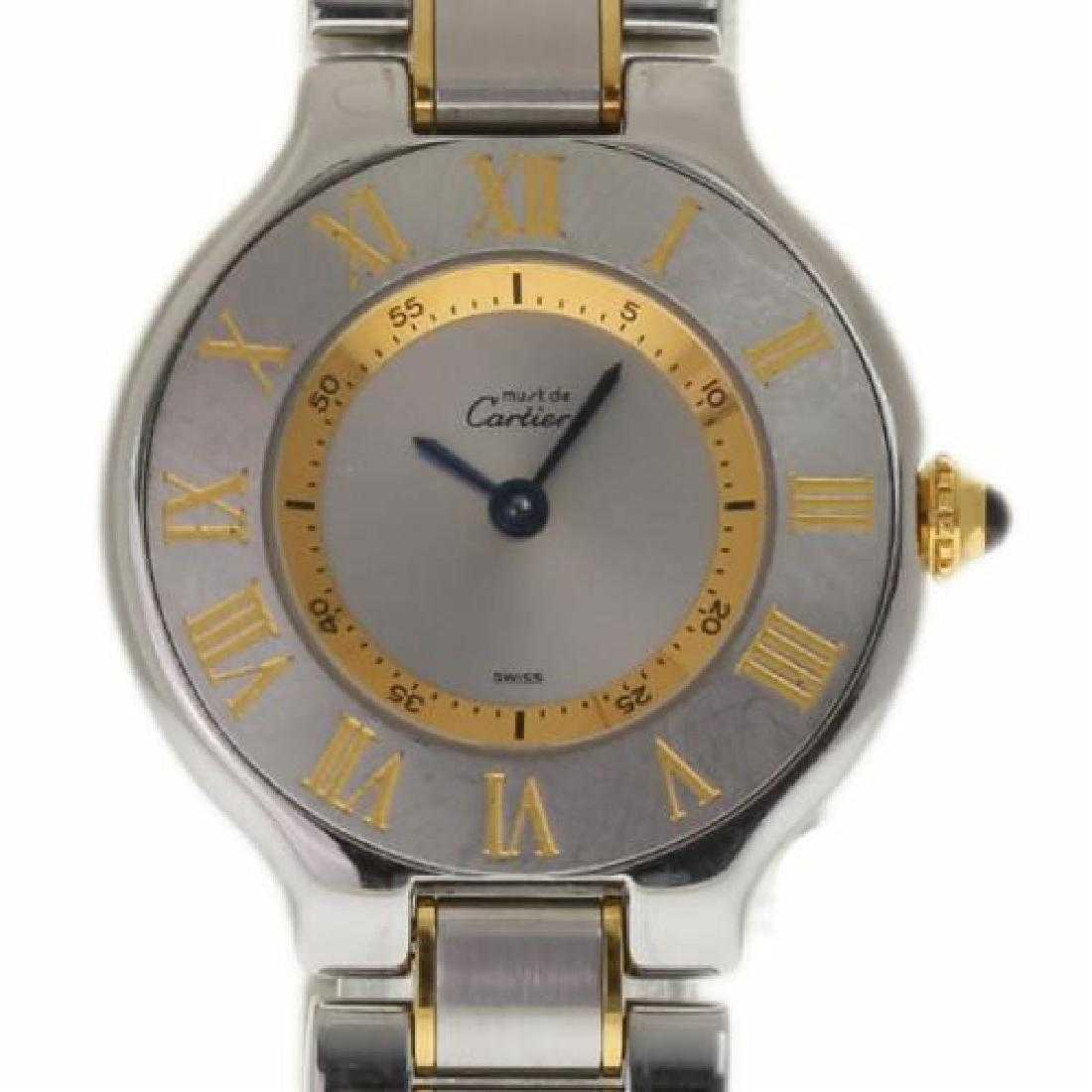 a12d944ed5d Cartier Must De Cartier 21 Steel Gold Quartz Watch
