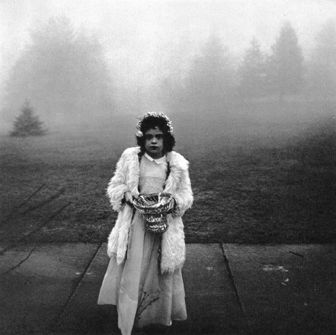 DIANE ARBUS - A Flower Girl at a Wedding, 1964
