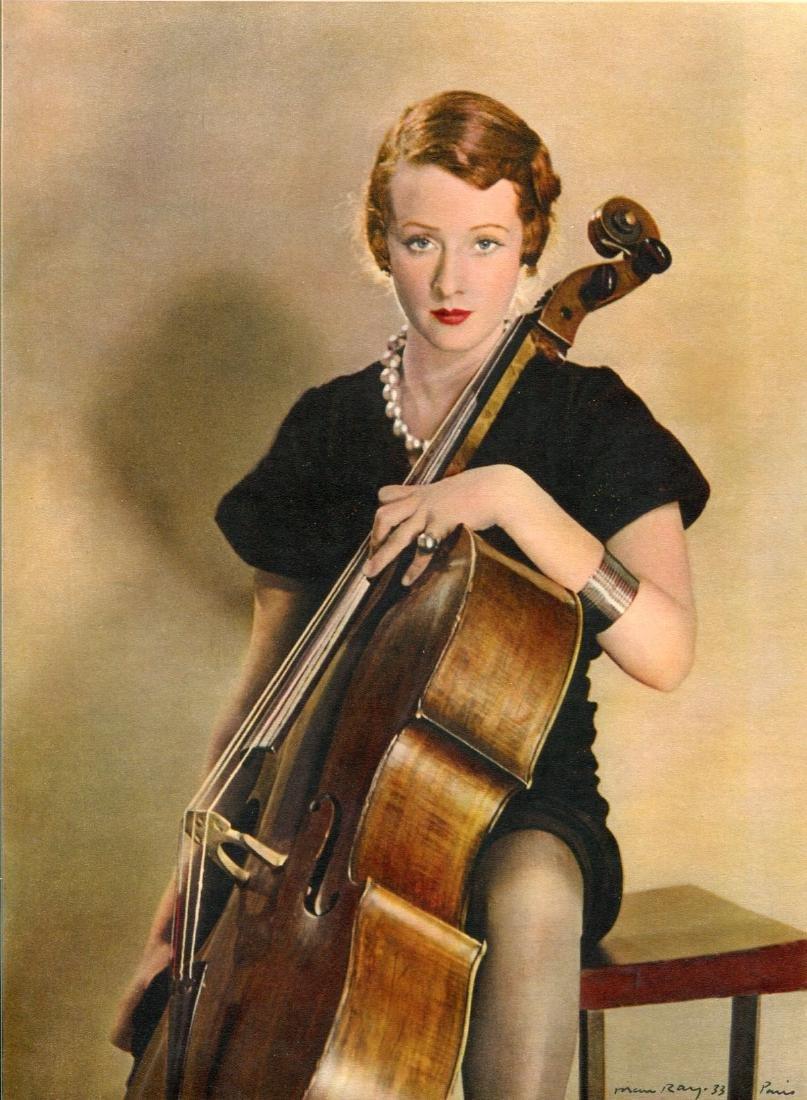 MAN RAY - Femme avec Violoncelle