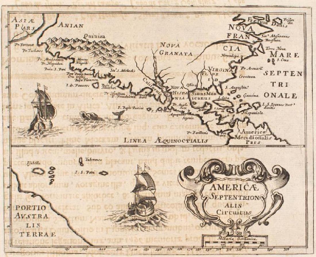Morisot: Antique Map of North America, 1643