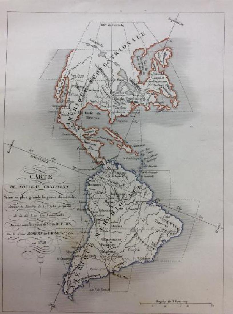 Vaugondy: Antique Map of Western Hemisphere, 1750s
