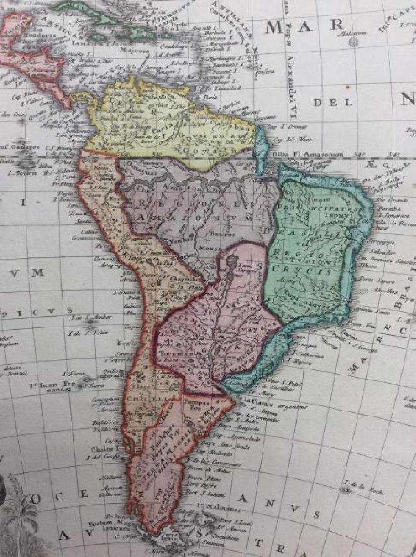 Homann Heirs: Antique Map of North & South America 1746 - 3