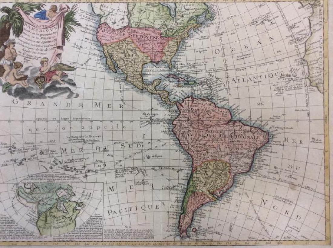 Clouet: Antique Map of the Western Hemisphere, 1781