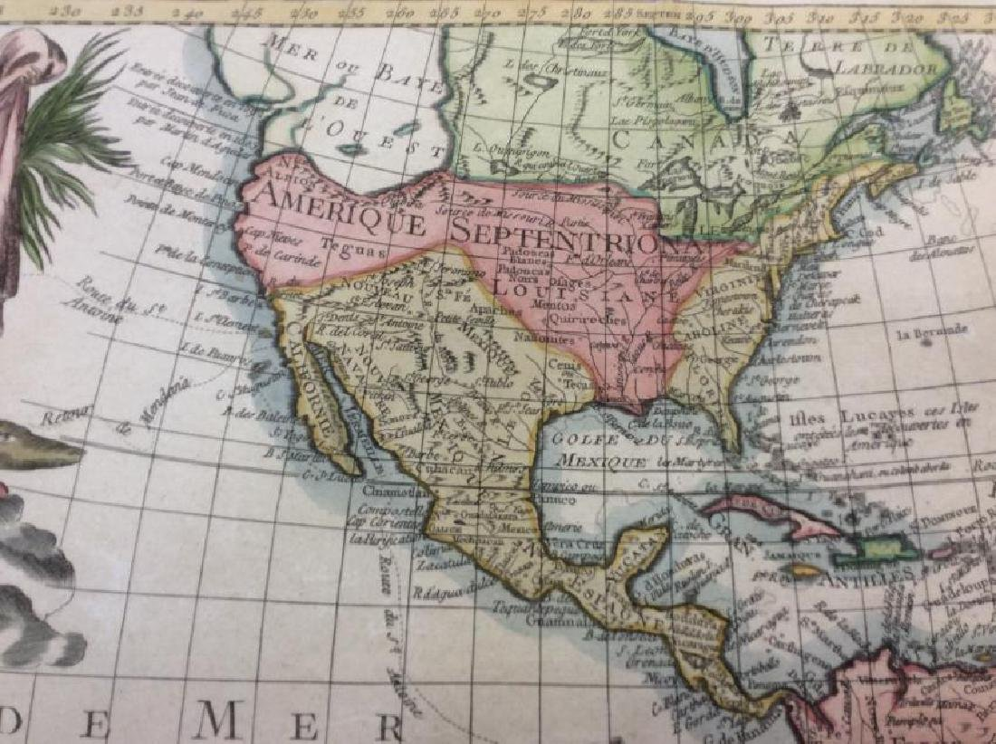 Clouet: Antique Map of the Western Hemisphere, 1781 - 2