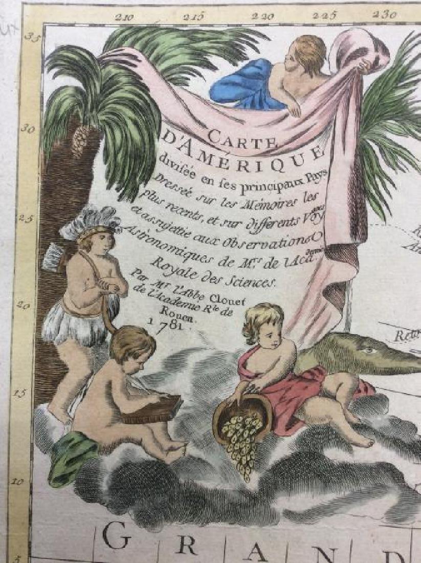 Clouet: Antique Map of the Western Hemisphere, 1781 - 3