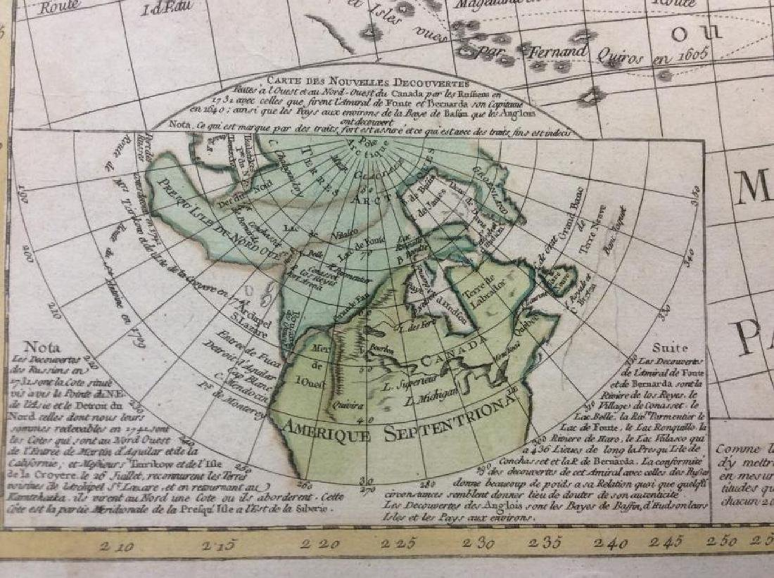 Clouet: Antique Map of the Western Hemisphere, 1781 - 4