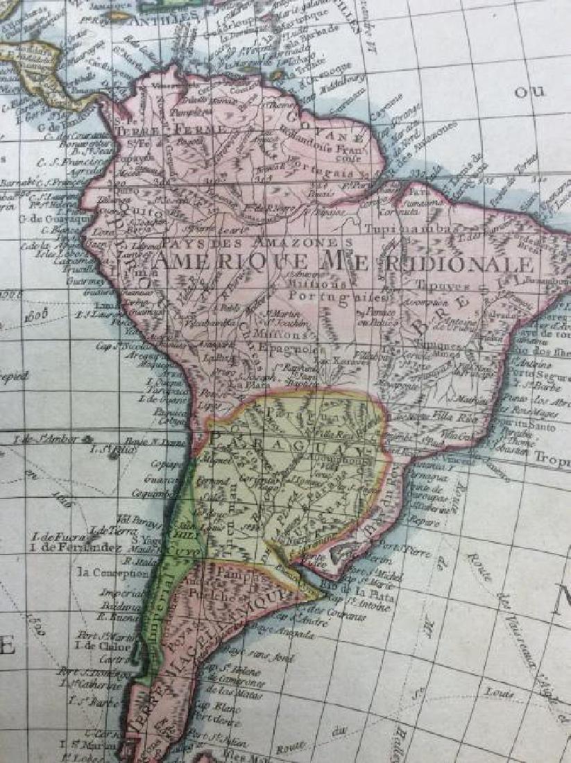 Clouet: Antique Map of the Western Hemisphere, 1781 - 5