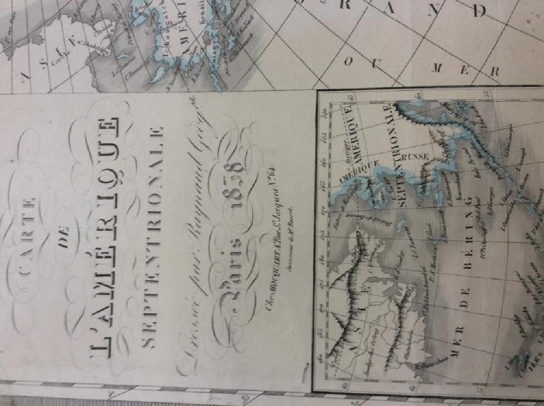 Raynaud: Antique Map of North America, 1838 - 2