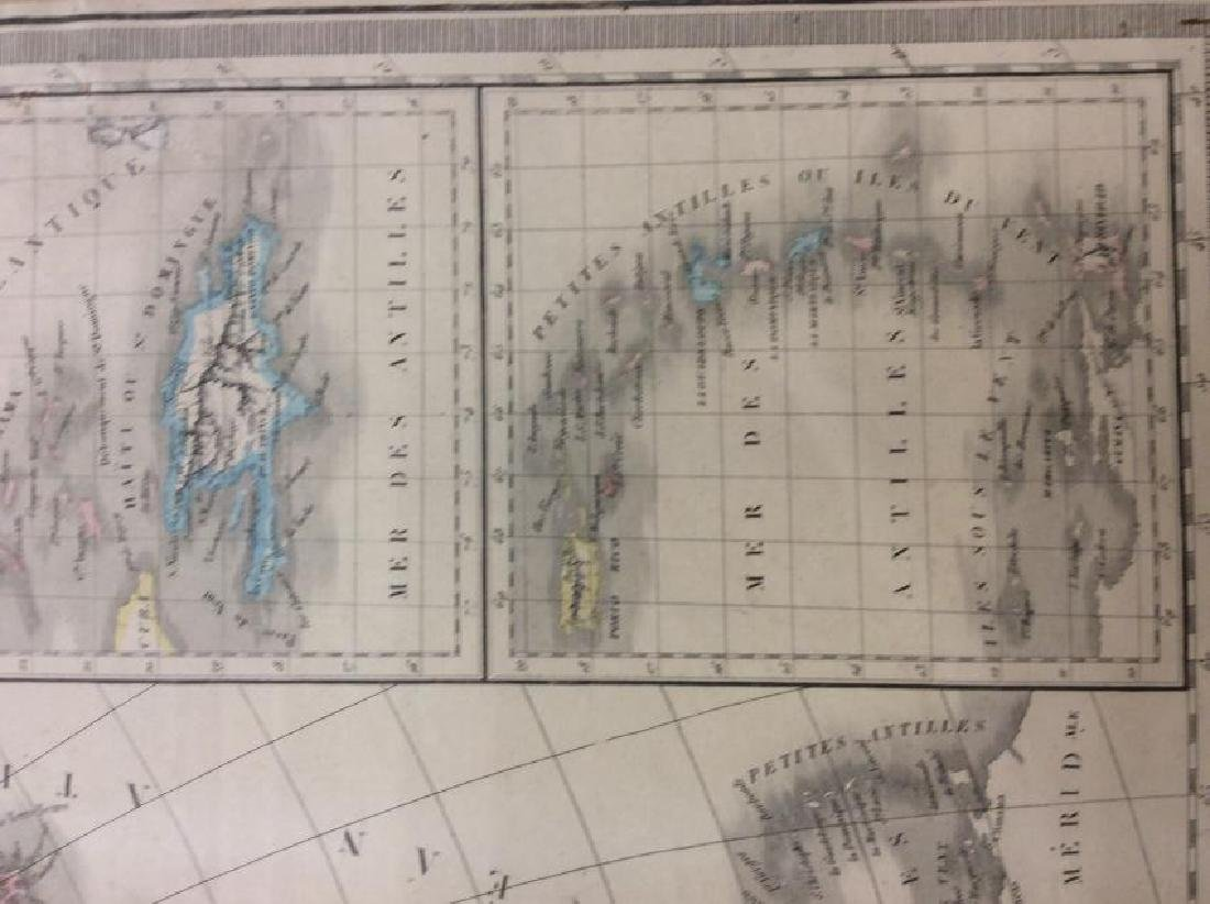Raynaud: Antique Map of North America, 1838 - 4