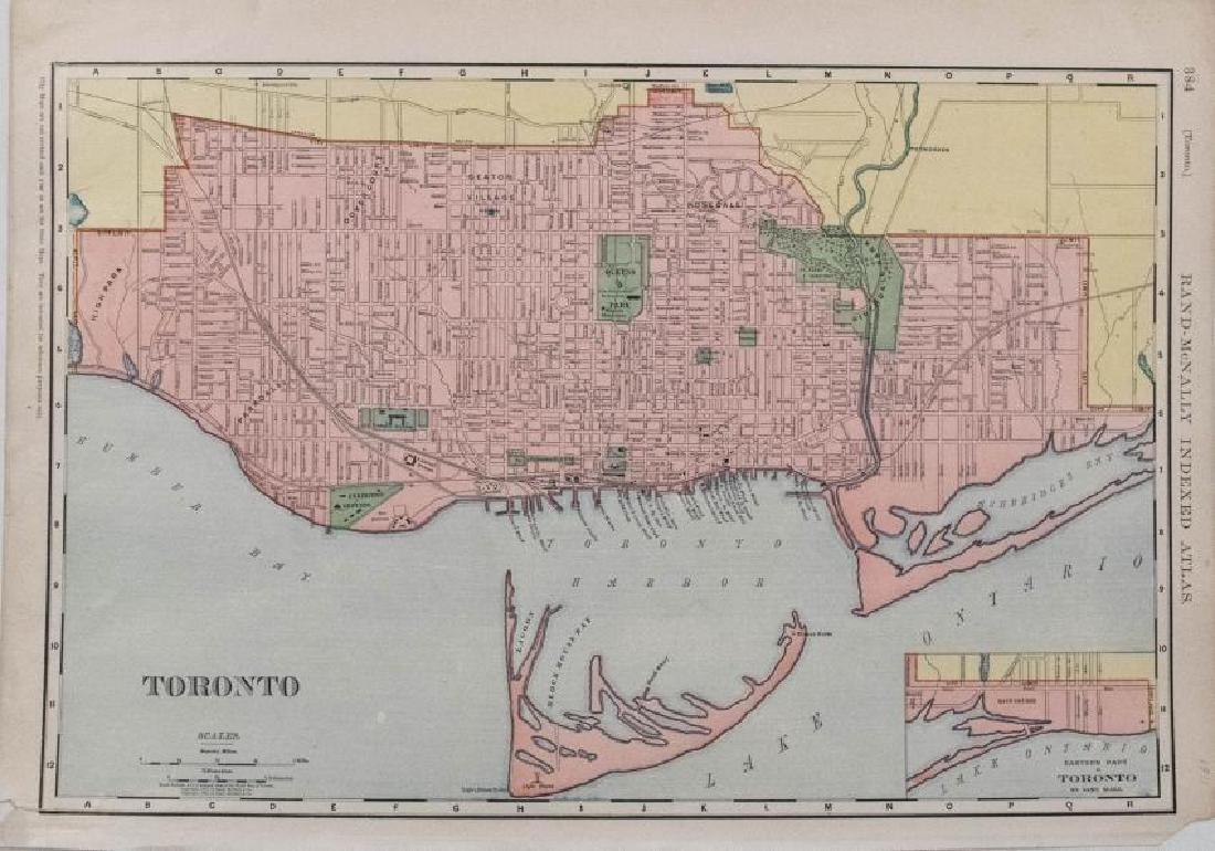 Rand McNally: Antique Map of Toronto, 1911