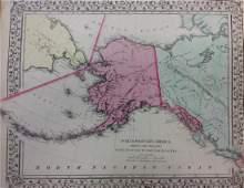 Mitchell: Antique Map of Alaska, 1869