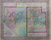 Mitchell: Antique Map of Nevada & Utah, 1869