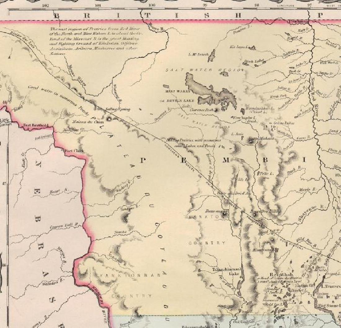 Colton: Antique Map of Minnesota, 1855 - 4
