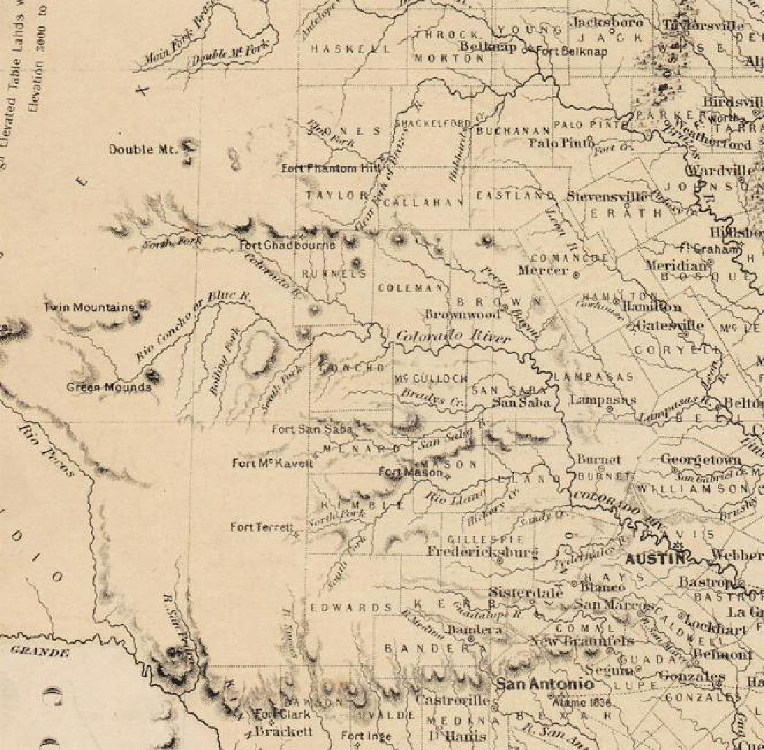 Colton: Antique Map of Texas, 1864 - 2