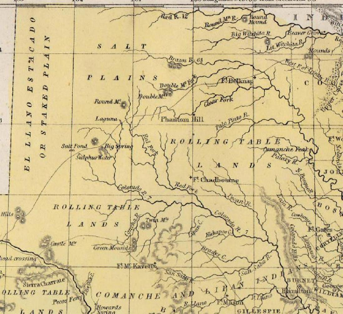 Cowperthwait/Desilver: Antique Map of Texas, 1852 - 2