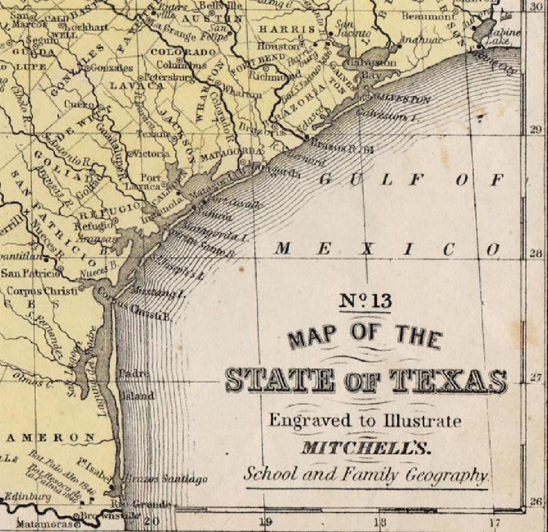 Cowperthwait/Desilver: Antique Map of Texas, 1852 - 4