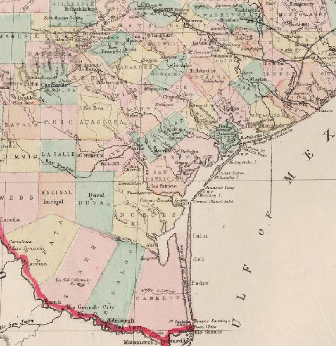 Hardesty: Antique Map of Texas, 1875 - 3