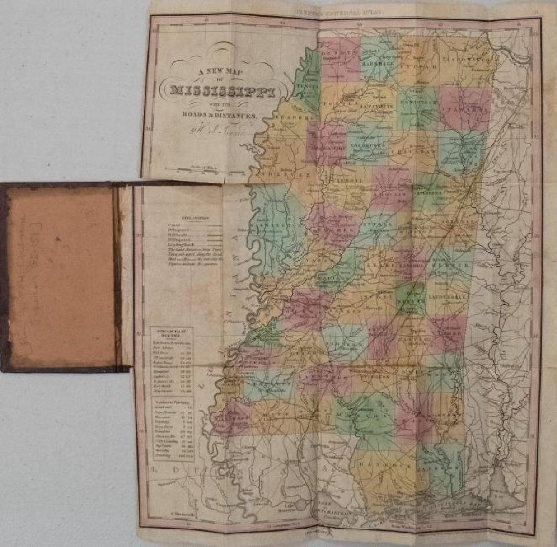 Tanner: Antique Pocket Map of Mississippi, 1836 - 2