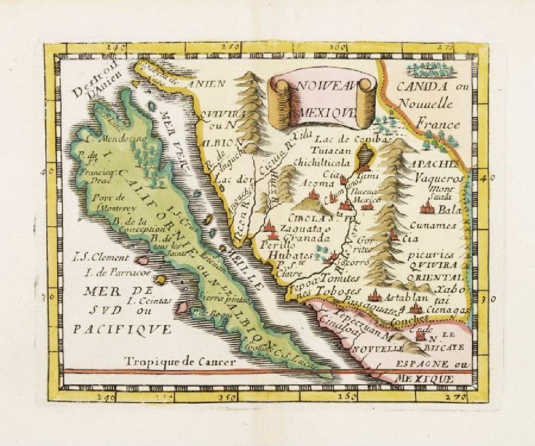 Val Antique Map of California as an Island 1670