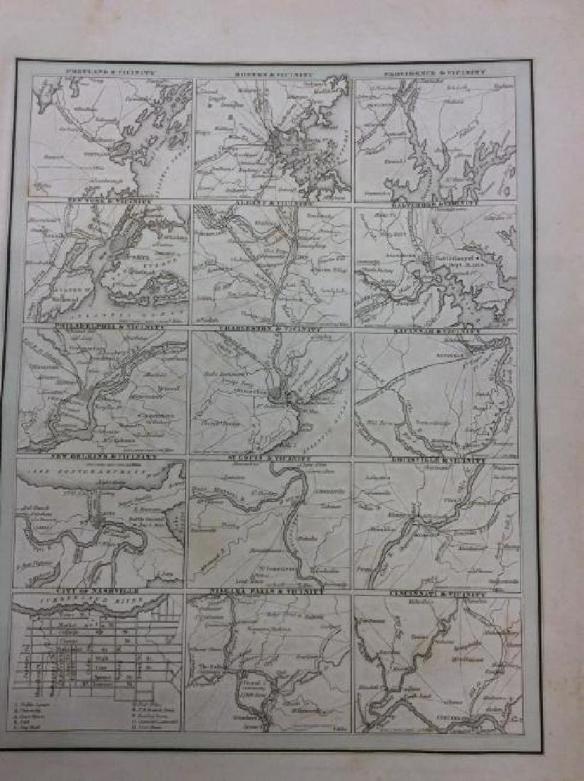 Bradford: Antique Map of Early American Cities, 1835