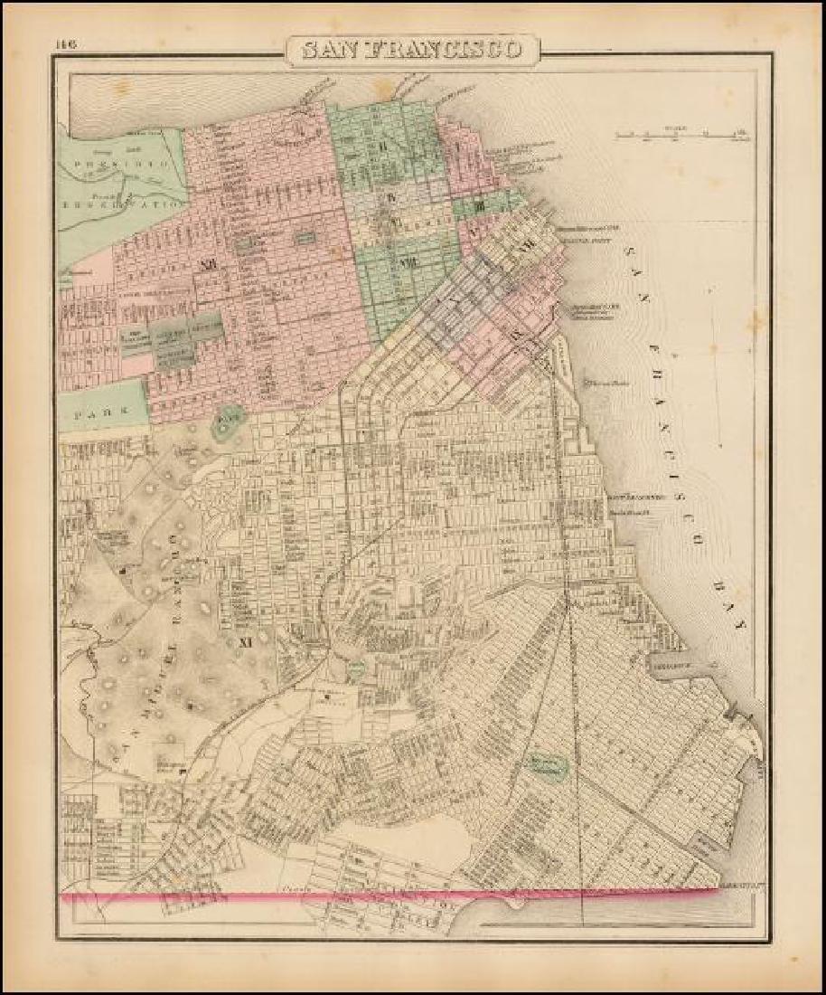 Gray & Son: Antique Map of San Francisco, 1881 - 2
