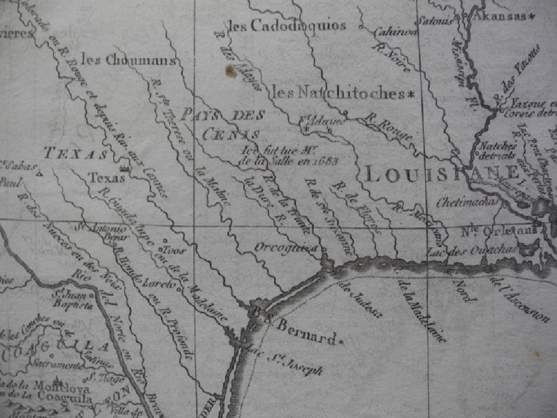 Bonne: Antique Map of Northern Mexico, 1790 - 2