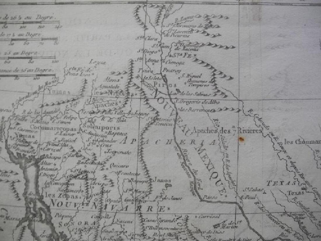 Bonne: Antique Map of Northern Mexico, 1790 - 3