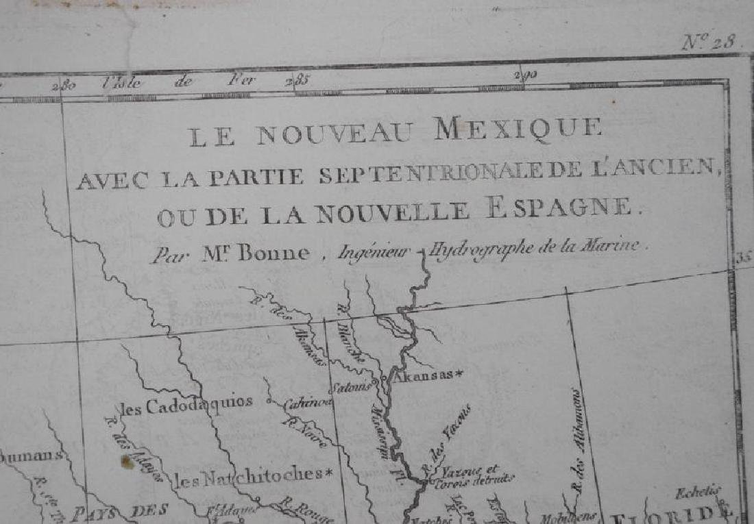 Bonne: Antique Map of Northern Mexico, 1790 - 5
