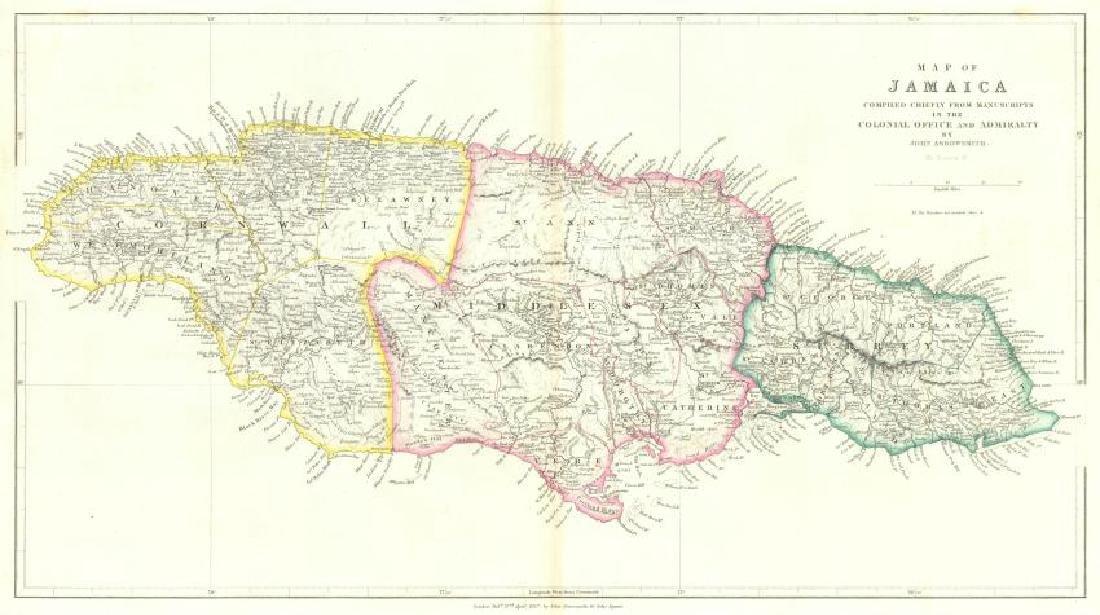 Arrowsmith: Antique Map of Jamaica, 1842