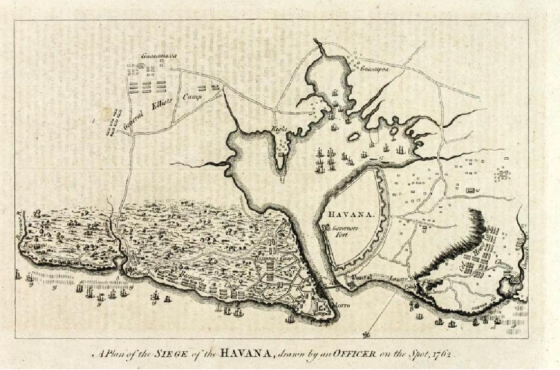 Anonymous: Antique Map Plan of Havana, 1766