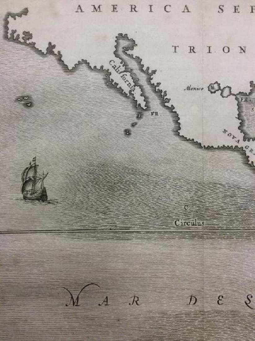 Kircher: Antique Map of Ocean Currents, 1665 - 2