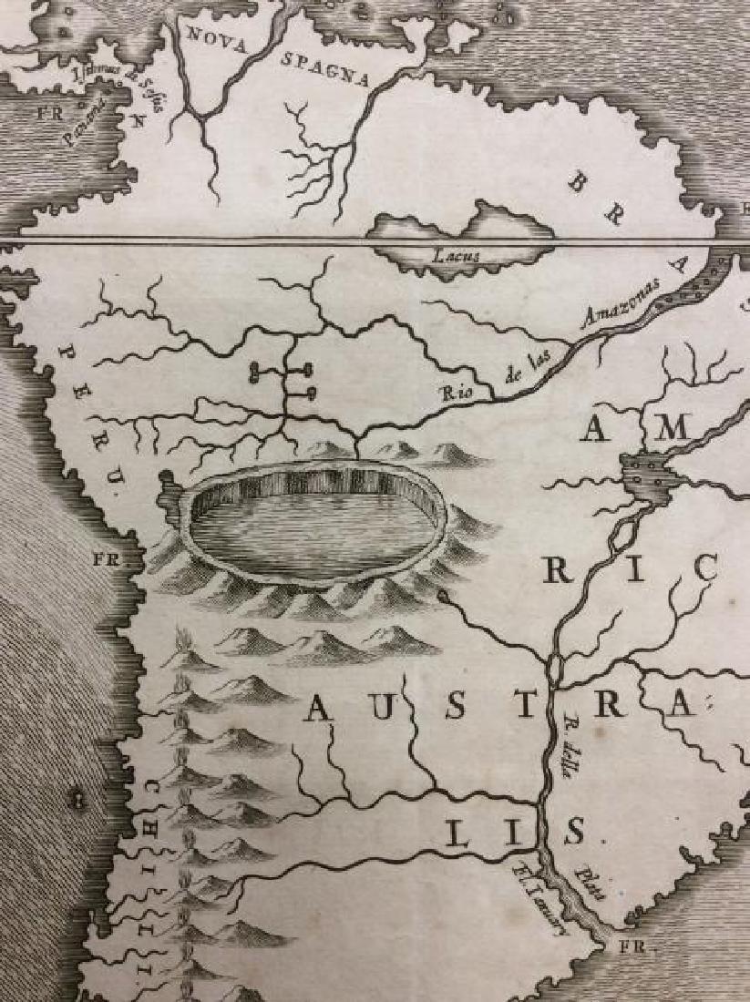 Kircher: Antique Map of Ocean Currents, 1665 - 3