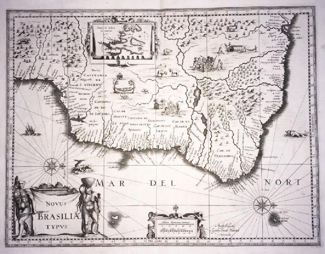 Blaeu: Antique Map of Brazil, 1634