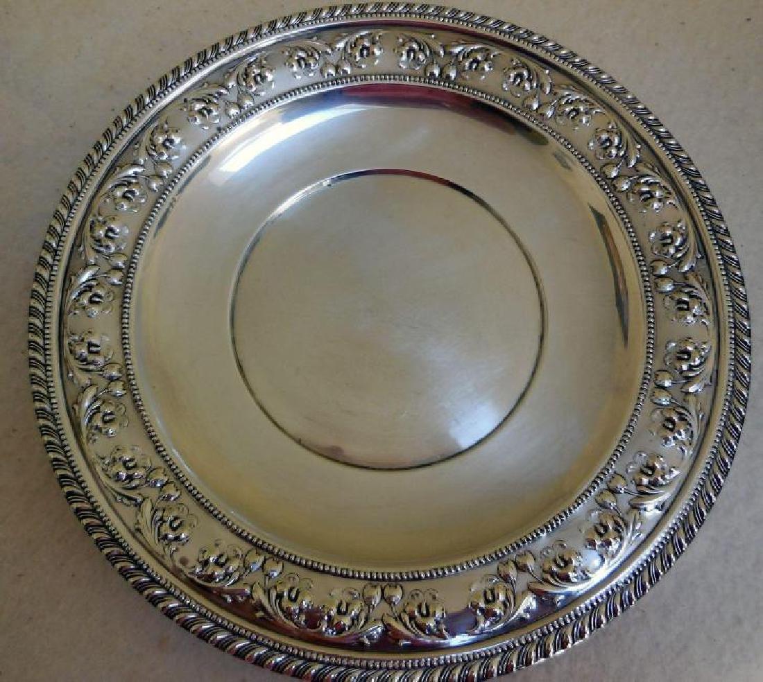 Set of 2 Vintage Sterling Silver Serving Plates - 4